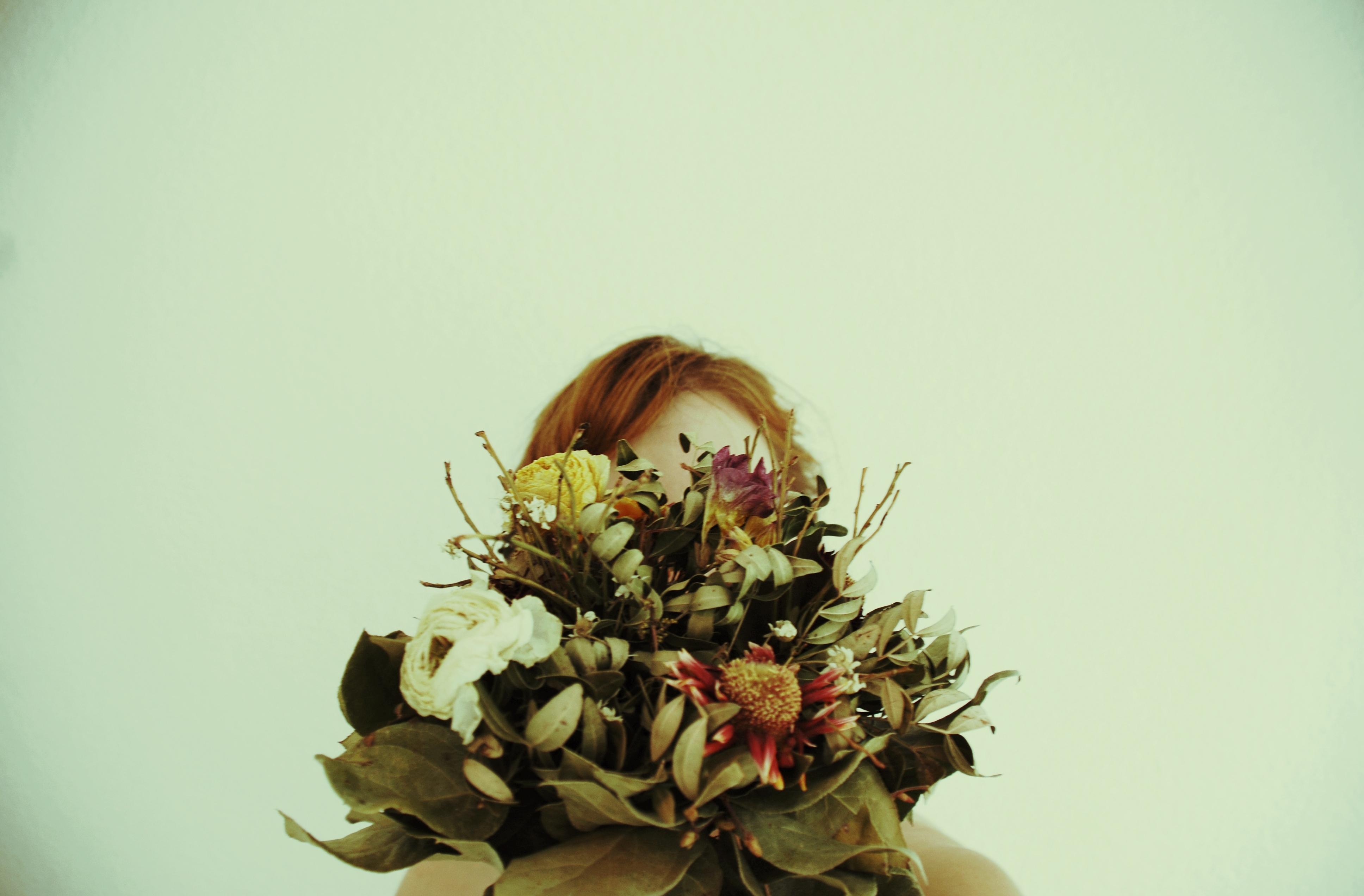 Ich hab' Blumen mitgebracht.
